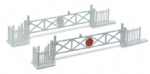 NB-50 Peco: Level Crossing Gates (4) with Wicket Gates and Fencing